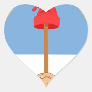 Escudode Argentinien - Wappen von Argentinien Herz-Aufkleber