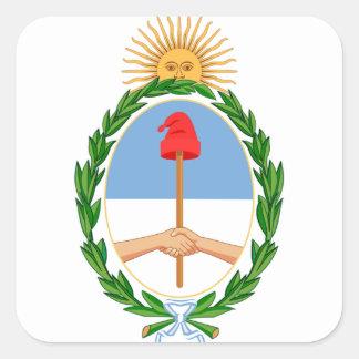 Escudode Argentinien - Wappen von Argentinien Quadratischer Aufkleber