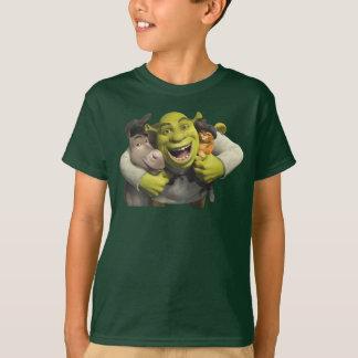 Esel, Shrek und Mietze in den Stiefeln T-Shirt