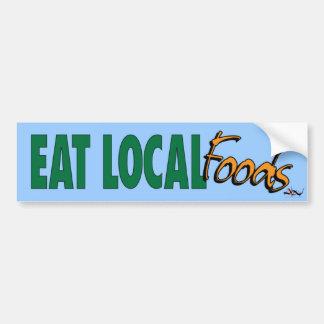 Essen Sie Einheimisch-… Autoaufkleber