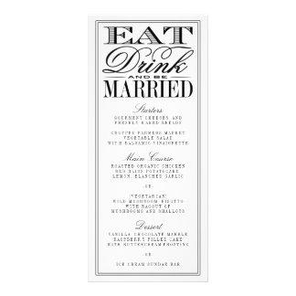 Essen Sie, Getränk u. seien Sie verheiratete Werbekarten