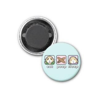 Essen Sie kacken Runder Magnet 2,5 Cm