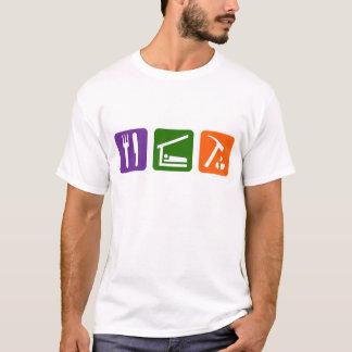 Essen Sie Schlaf-Archäologie T-Shirt