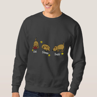 Essen Sie Schlaf-Atemzug Bestickter Pullover