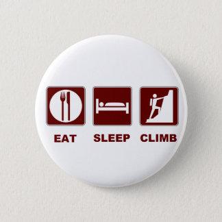 Essen Sie Schlaf-Aufstiegs-T - Shirt- und Runder Button 5,1 Cm