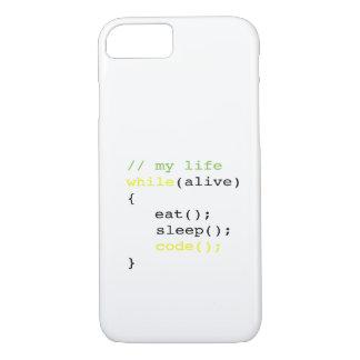 Essen Sie Schlaf-Code iPhone 8/7 Hülle