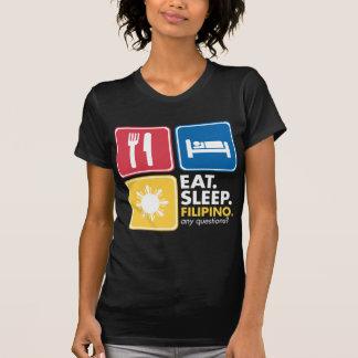 Essen Sie Schlaf-Filipino - Farben T-Shirt