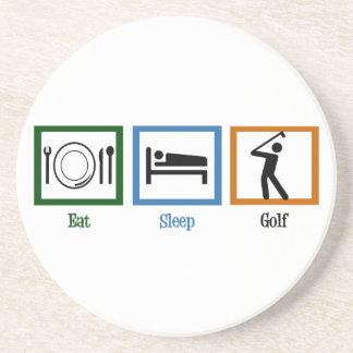 Essen Sie Schlaf-Golf Getränkeuntersetzer