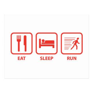 Essen Sie Schlaf-Lauf Postkarte