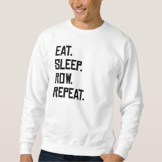 Essen Sie Schlaf-Reihen-Wiederholung Sweatshirt