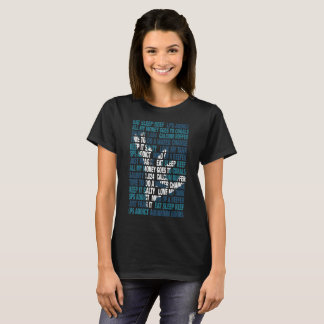 Essen Sie Schlaf-Riff T-Shirt