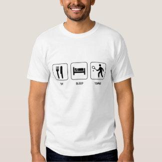 Essen Sie Schlaf-Tennis-Shirt Shirts