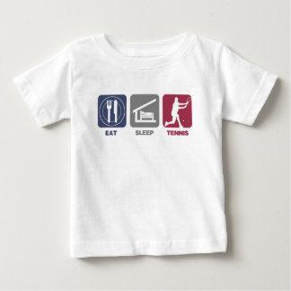 Essen Sie Schlaf-Tennis - Typ 1 Baby T-shirt