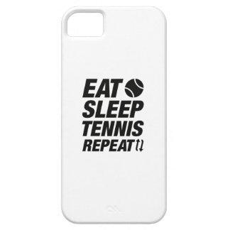 Essen Sie Schlaf-Tennis-Wiederholung iPhone 5 Etuis