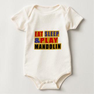 Essen Sie Schlaf und Spiel MANDOLINE Baby Strampler