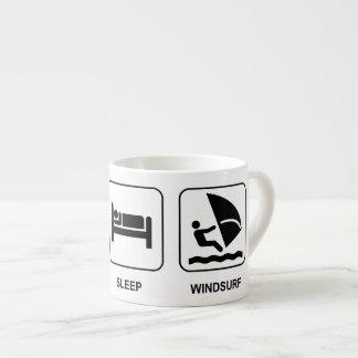 Essen Sie Schlaf Windsurf Espresso-Tassen