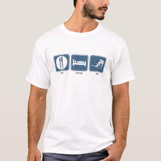 essen Sie, schlafen Sie, fahren Sie Ski T-Shirt