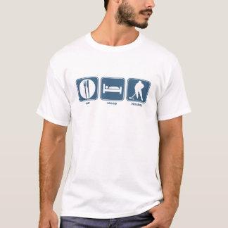 essen Sie, schlafen Sie, Hockey T-Shirt