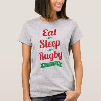 Essen Sie, schlafen Sie, Rugby, T-Shirt