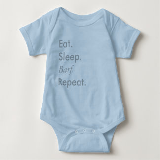 """""""Essen Sie, schlafen Sie, wiederholen Sie"""" Reihe - Baby Strampler"""