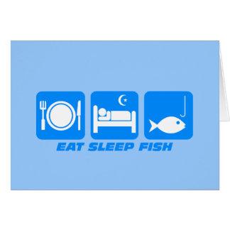 essen Sie Schlaffische Grußkarte