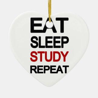 Essen Sie Schlafstudienwiederholung Keramik Ornament