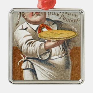 Essen Sie Torte Silbernes Ornament
