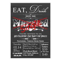 Essen Sie, trinken Sie u. seien Sie Personalisierte Einladungen