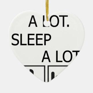 Essen Sie viel Schlaf viel Keramik Herz-Ornament