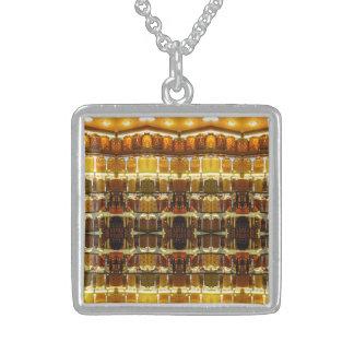 Essiggurken-Glas-Anhänger Sterling Silberkette