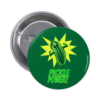 Essiggurken-Power! Runder Button 5,7 Cm