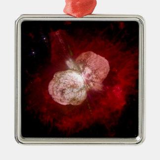 Eta Carinae super enormer Stern Silbernes Ornament