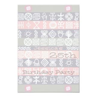 Ethnische 25. Geburtstags-Party Einladung 8,9 X 12,7 Cm Einladungskarte
