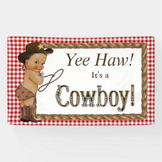 Ethnische Cowboy-Babyparty Banner