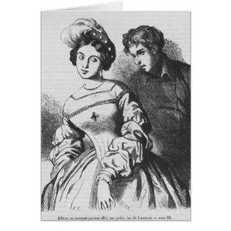 Etienne Lousteau, der mit einem Schauspielerin Karte