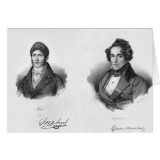 Etienne Mehul und Giacomo Meyerbeer Karte