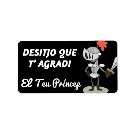 Etikett, Sant Jordi, Desitjo, der t'agradi Adressaufkleber