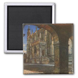Eton Uni-Kapelle durch Anna Alma Tadema Quadratischer Magnet