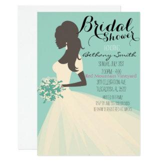 Etwas blaue Brautpartyeinladung Karte