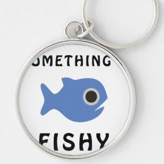 Etwas fischartige blaue Fische Schlüsselanhänger