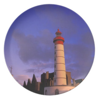 EU, Frankreich, Bretagne, Finistere, St. Mathieu, Flache Teller