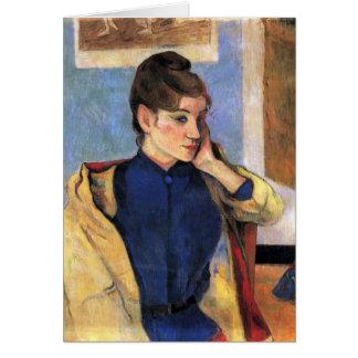 Eugène Henri Paul Gauguin - Madeleine Bernard Grußkarte
