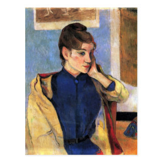 Eugène Henri Paul Gauguin - Madeleine Bernard Postkarte