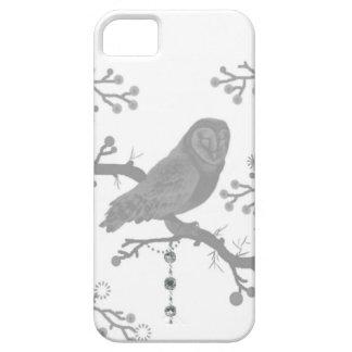 Eule grau, weiß, Natur, Niederlassungen iPhone 5 Schutzhüllen