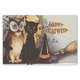 Eule und Katze Halloween Seidenpapier