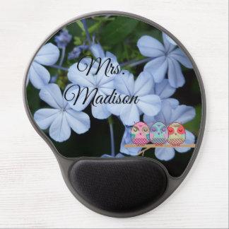 Eulen-Baum-Blumenblüten-Rebe-Schicksals-Schicksals Gel Mousepad