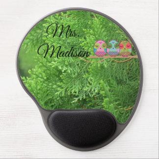 Eulen-Baum-Grün-Blüten-Rebe-Schicksals-Schicksals Gel Mousepad
