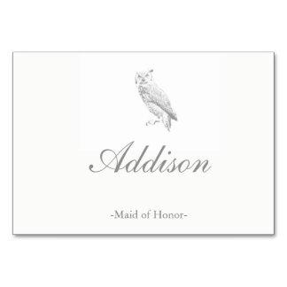 Eulen-Hochzeits-Platzkarten