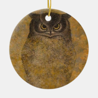 Eulen-Japaner-schöne Kunst Rundes Keramik Ornament