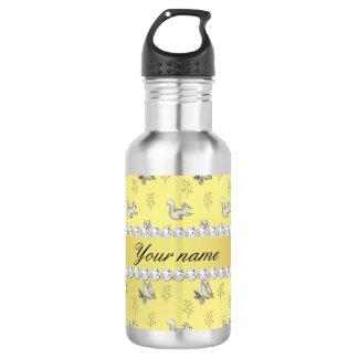 Eulen-und Eichhörnchen-Imitat-Goldfolie Bling Trinkflasche
